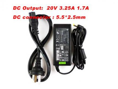 PC PORTABLE Chargeur / Alimentation Secteur Compatible Pour  76G01B651-5A  0335A2065,20V 3.25A FOR FUJITSU SIEMENS AMILO Li 2727 LAPTOP CHARGER