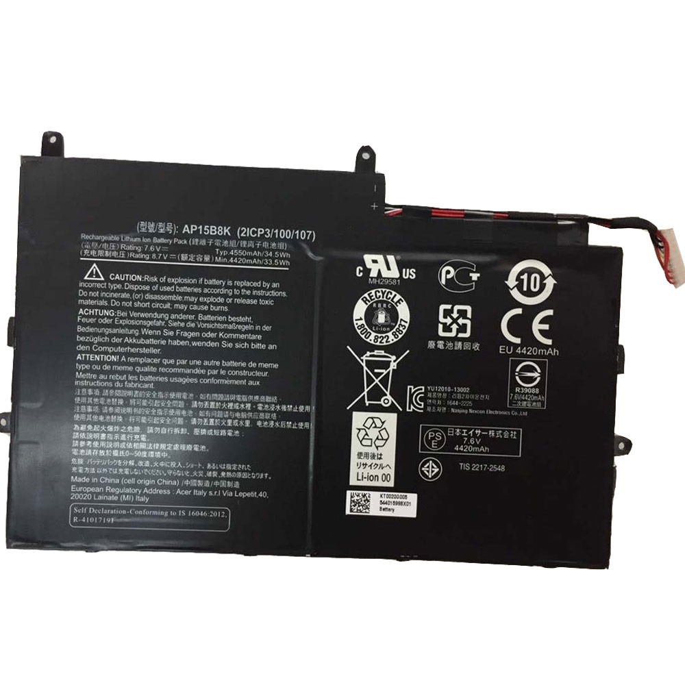 ACER AP15B8K PC PORTABLE BATTERIE - BATTERIES POUR ACER ASPIRE SWITCH 11 SW5-173 SW5-173P SERIES