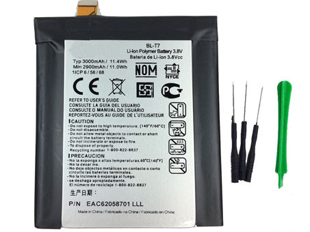 LG BL-T7 PC PORTABLE BATTERIE - BATTERIES POUR LG OPTIMUS G2 D800 D801 D802 D803 VS980 LS980 WITH TOOLS