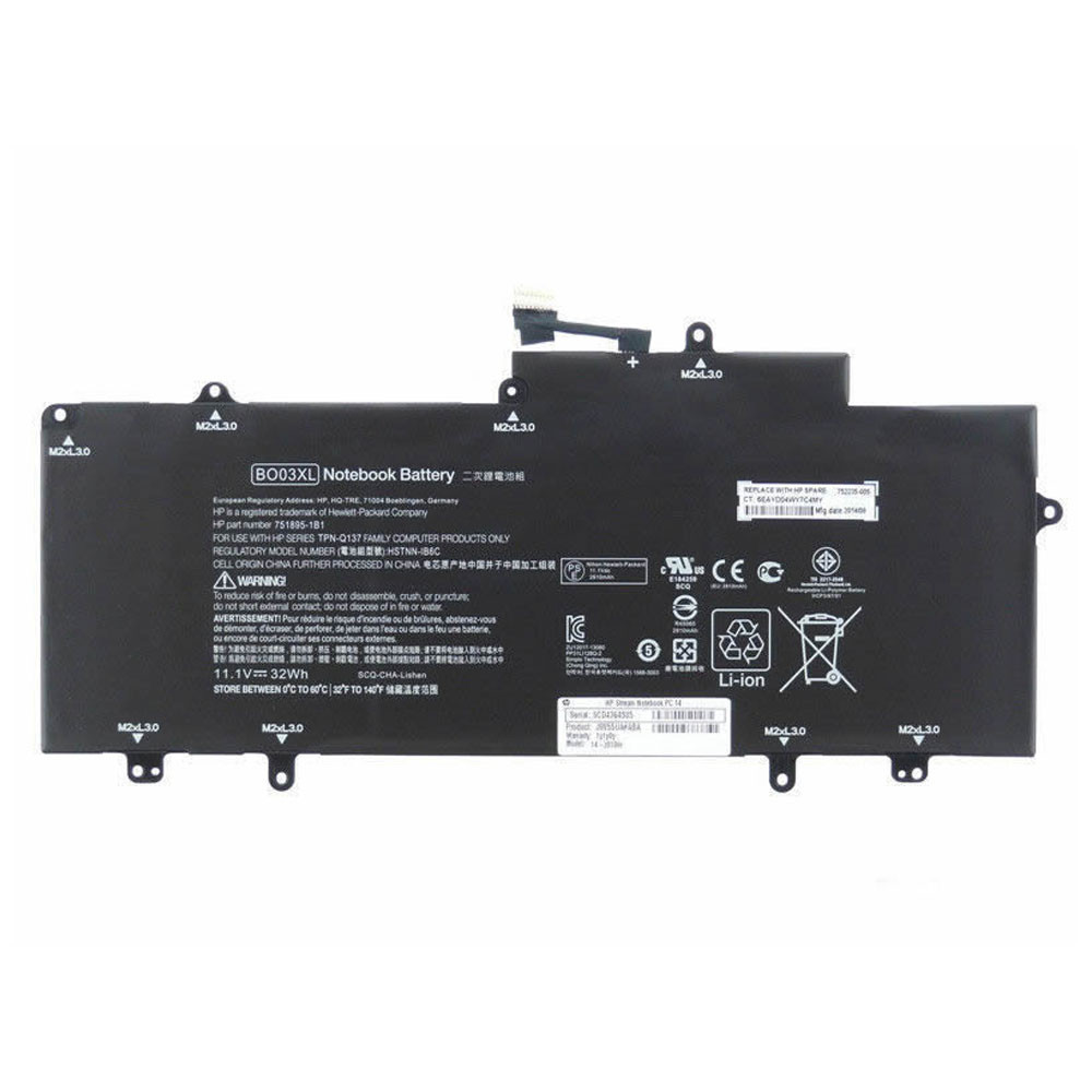 HP BO03XL PC portables Batterie - Batteries pour HP TPN-Q137 751895-1C1 752235-005 Series