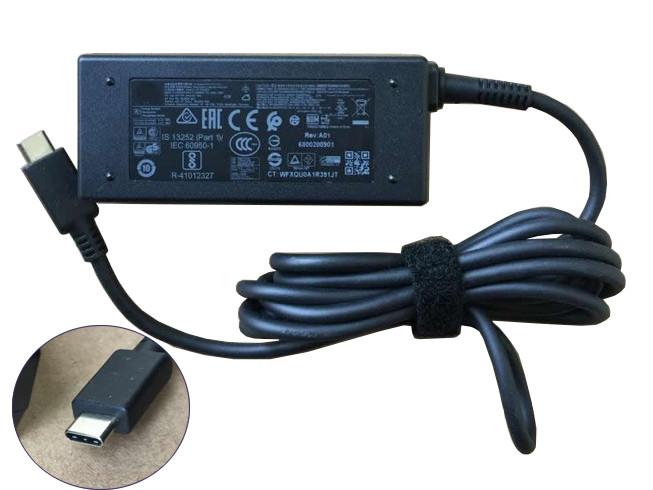 PC PORTABLE Chargeur / Alimentation Secteur Compatible Pour  815049-001 A045R031L TPN-CA01,HP Elite x2 45W USB-C