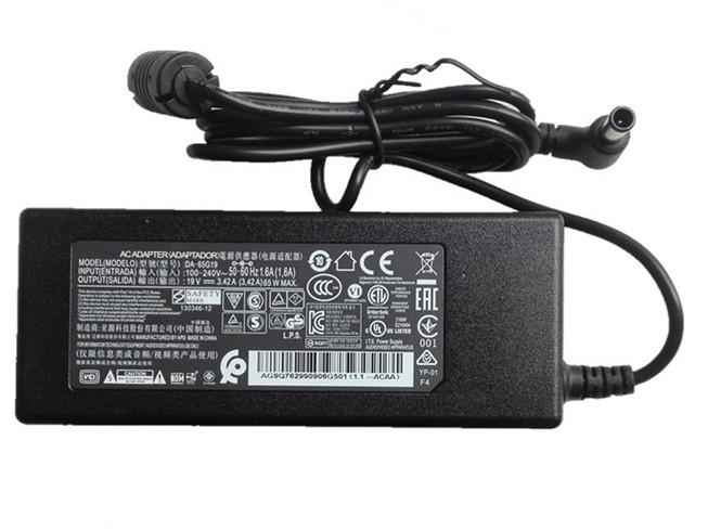 PC PORTABLE Chargeur / Alimentation Secteur Compatible Pour 65W  DA-65G19 PSAB-L101A,6.5 x 4.4mm LG X-note C500 R410