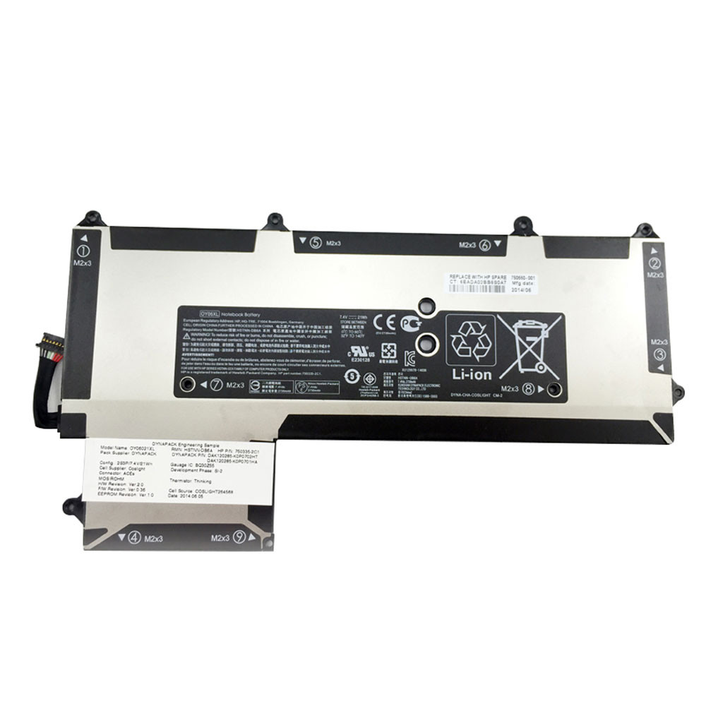 HP OY06XL PC portables Batterie - Batteries pour HP OY06XL HSTNN-DB6A 750335-2B1