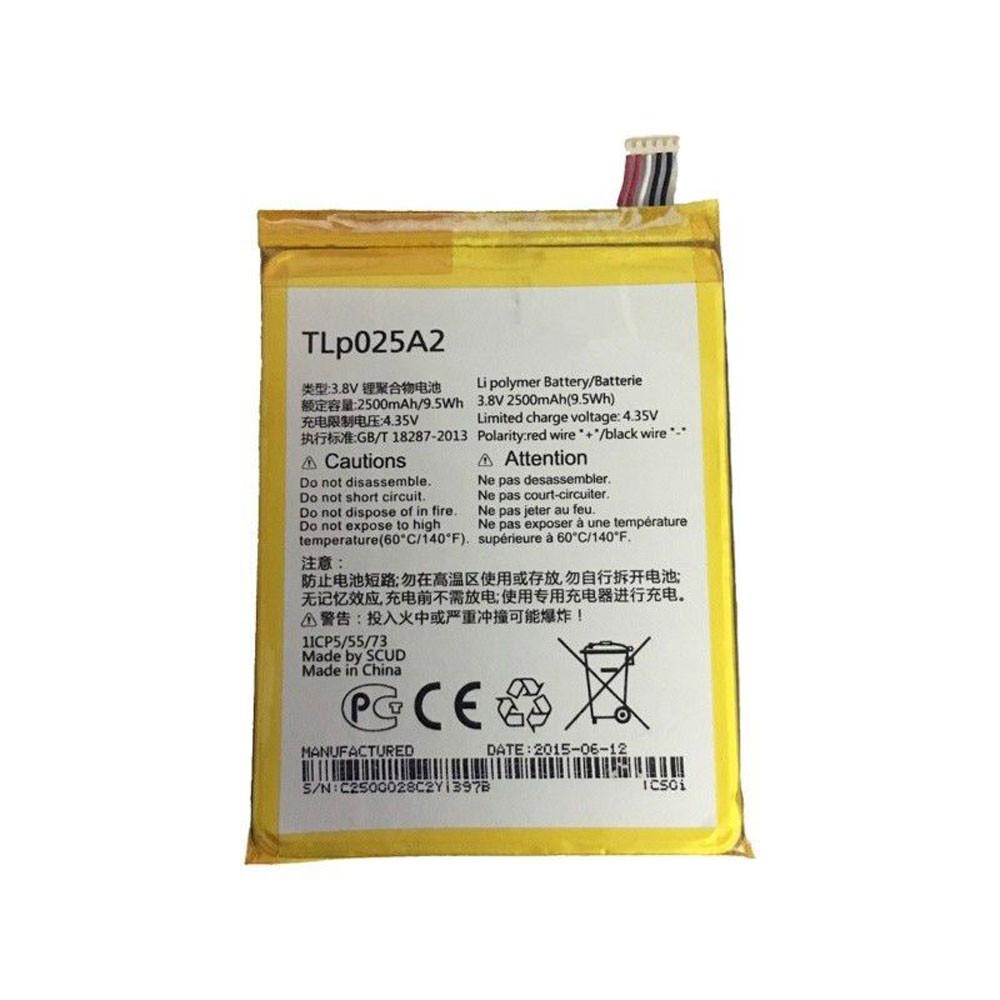 Alcatel TLp025A2  Batterie - Batteries pour Alcatel One Touch Scribe HD OT-8008 8008A 8008D