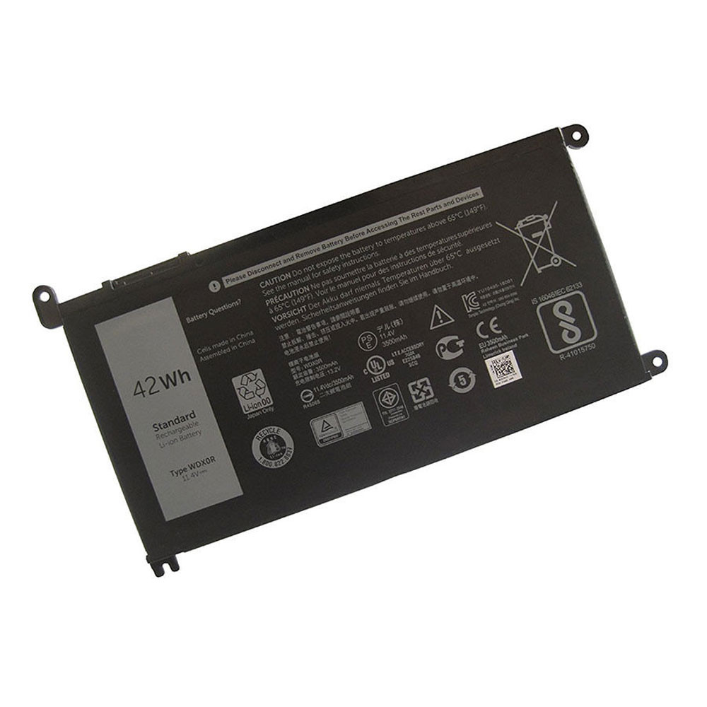 Dell WDXOR PC portables Batterie - Batteries pour Dell Inspiron 15 5568 13 7368 Series